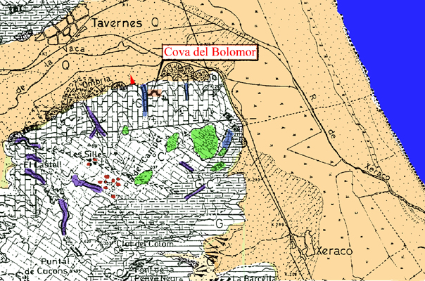 Geomorfología del entorno a partir de V. Rosselló (1968)